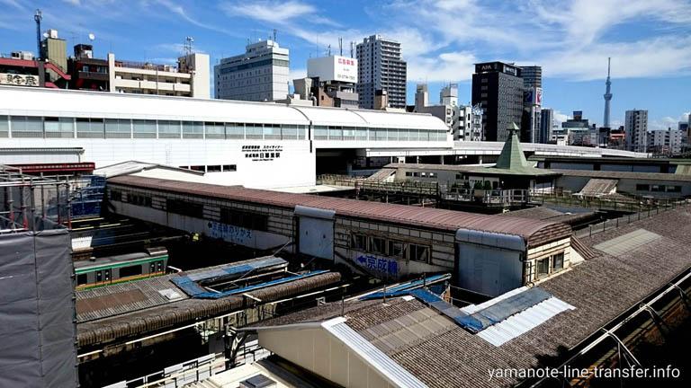 JY07 山手線 日暮里駅駅 外観写真