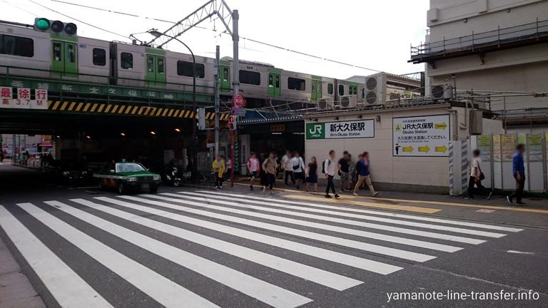 山手線 新大久保駅 外観写真