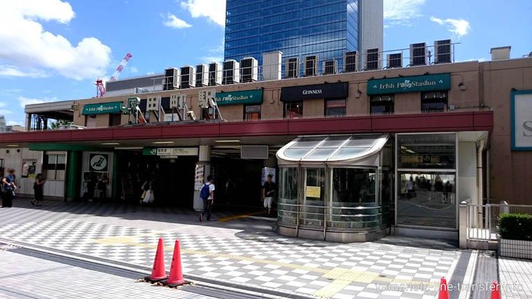 山手線 田町駅 外観写真