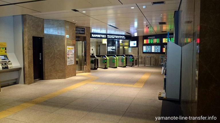 東京駅 丸の内地下北口改札の写真