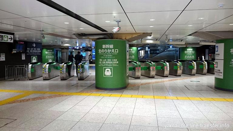 東京駅 新幹線北のりかえ改札 東北・山形・秋田・北海道・上越・北陸方面の写真