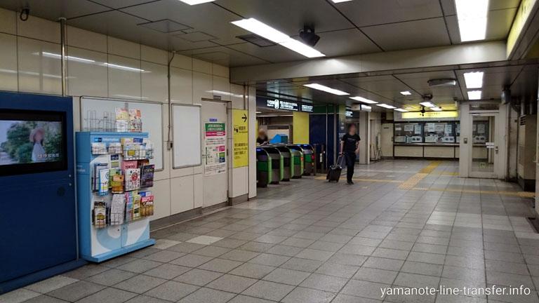 西日暮里駅 東京メトロ千代田線のりかえ改札の写真