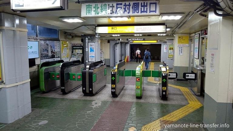 田端駅 東口改札の写真