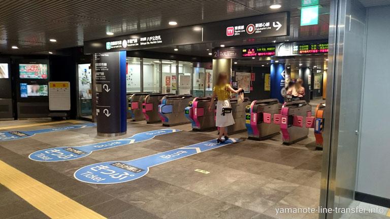 渋谷駅 半蔵門線改札の写真