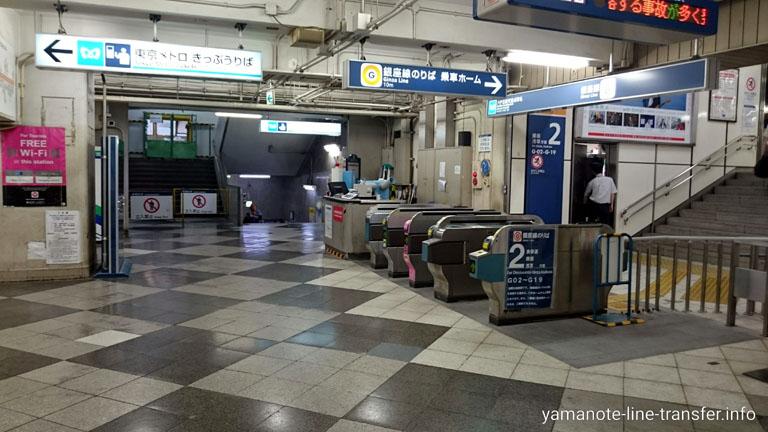 渋谷駅 東京メトロ銀座線改札の写真