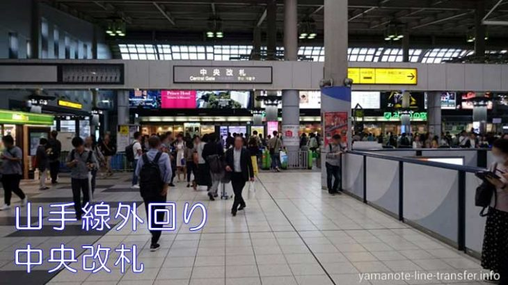 品川駅山手線外回り 中央改札